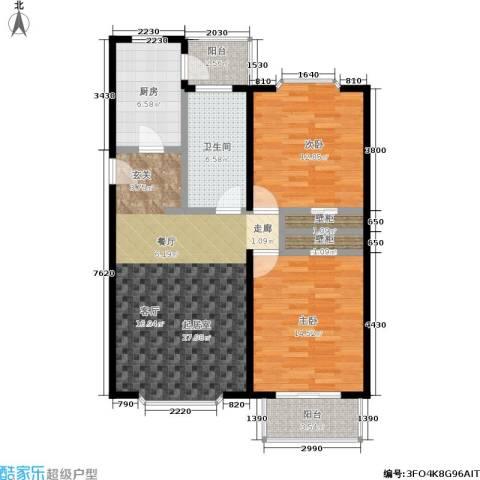 自然佳境2室0厅1卫1厨86.90㎡户型图