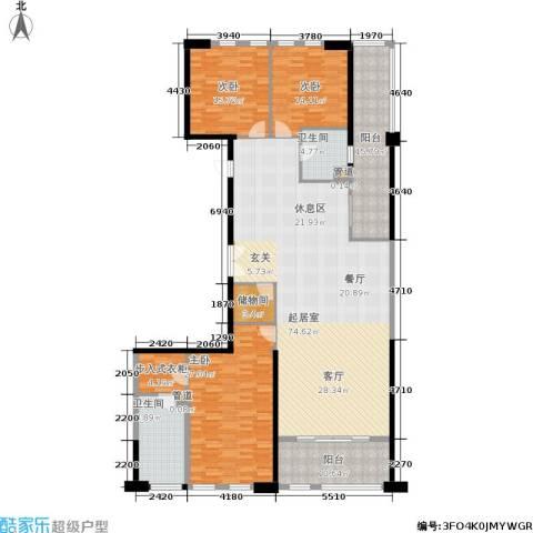 国信世纪海景3室0厅2卫0厨198.00㎡户型图