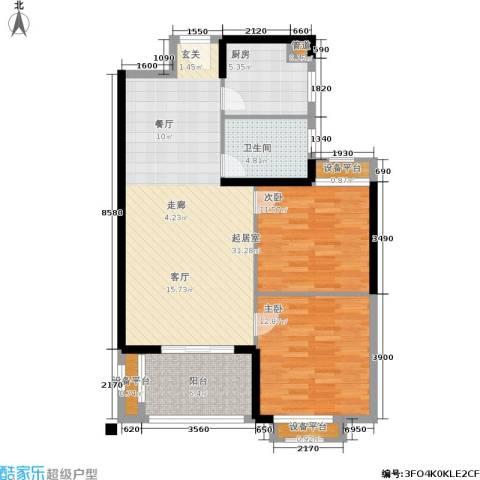 常发豪郡2室0厅1卫1厨83.00㎡户型图