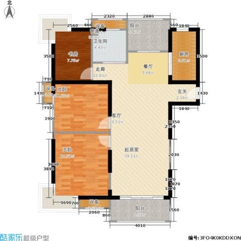 绿岛江湾城3室0厅1卫1厨108.00㎡户型图