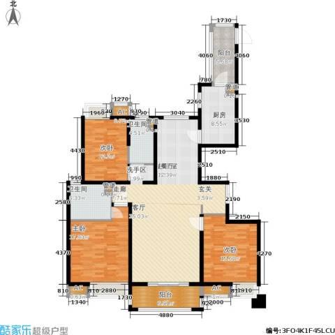 江阴万达广场3室0厅2卫1厨150.00㎡户型图