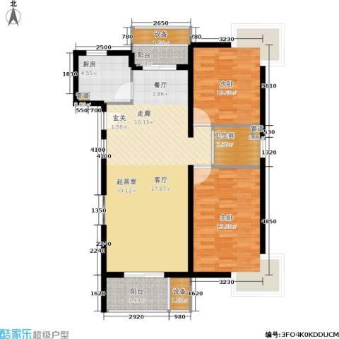 绿岛江湾城2室0厅1卫1厨102.00㎡户型图