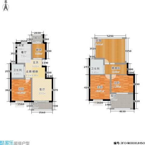 阅城国际花园3室0厅2卫1厨144.00㎡户型图