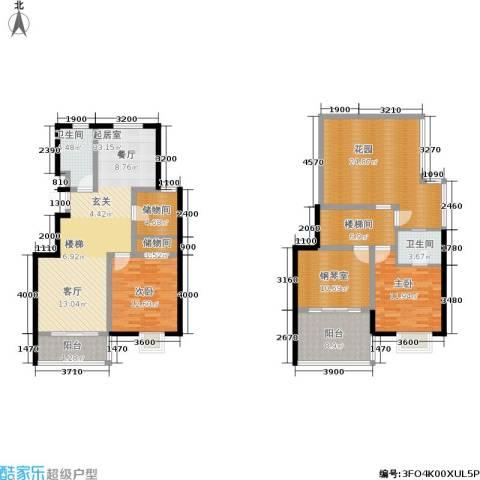 阅城国际花园2室0厅2卫0厨138.00㎡户型图