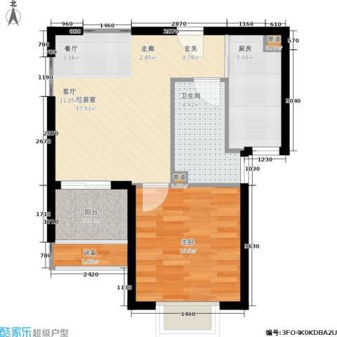 绿岛江湾城1室0厅1卫1厨60.00㎡户型图