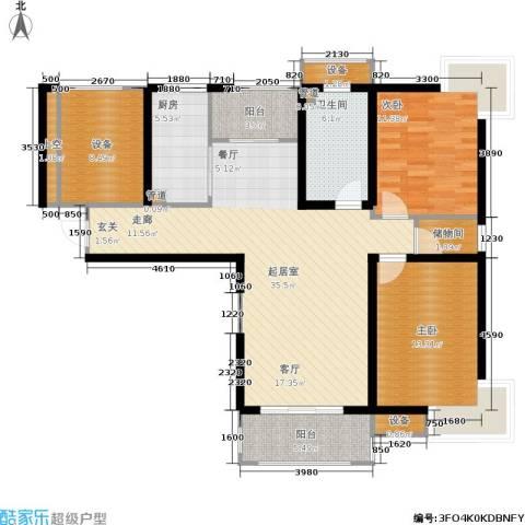绿岛江湾城2室0厅1卫1厨111.00㎡户型图