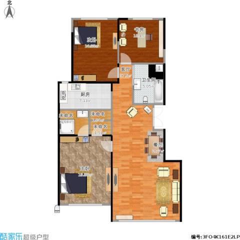 豪邦缇香公馆3室1厅1卫1厨138.00㎡户型图