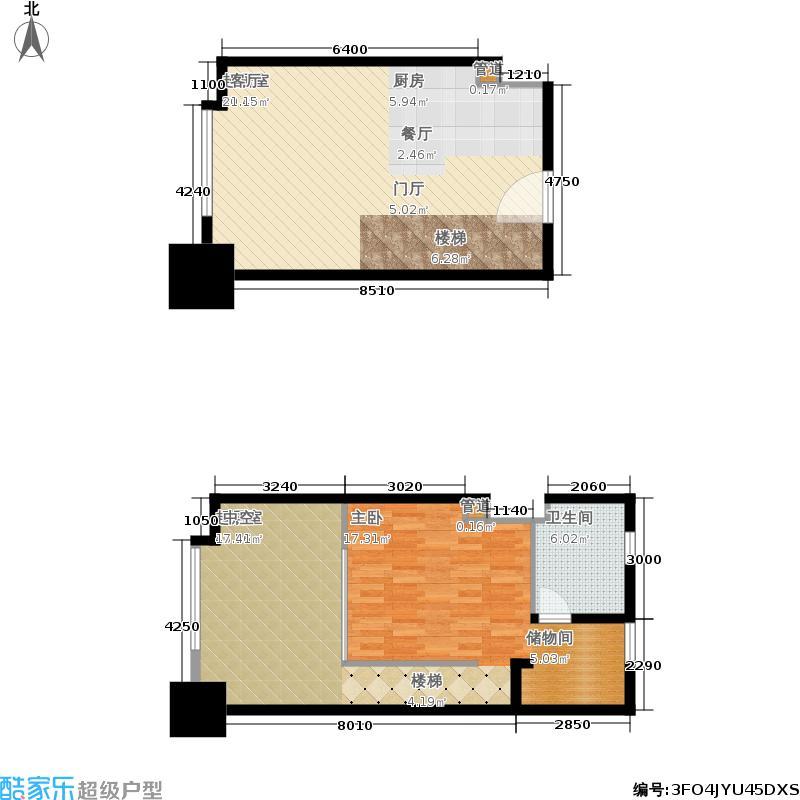 四季观邸45.00㎡高层LOFTB户型