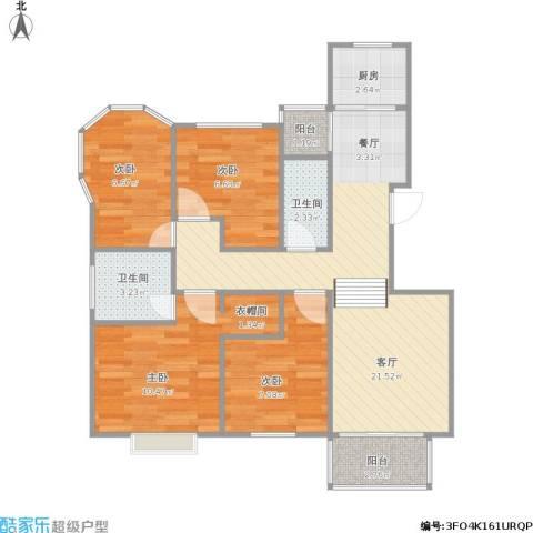 金鼎湾花园4室1厅2卫1厨89.00㎡户型图