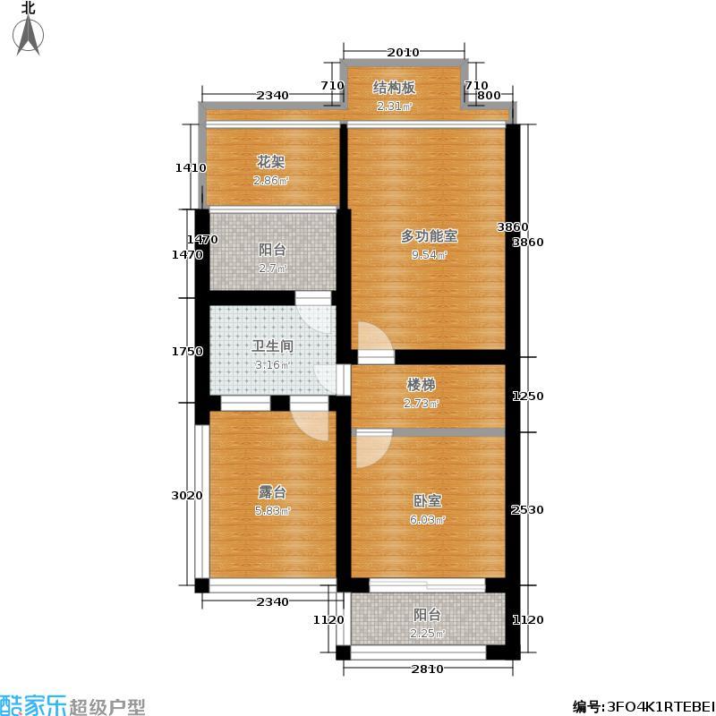 韩建雅苑45.48㎡JY户型1室1厅