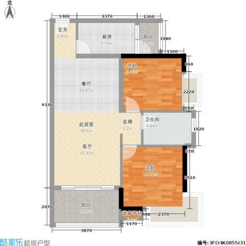 盈彩美居2室0厅1卫1厨82.00㎡户型图
