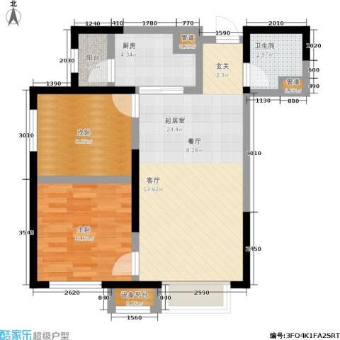 中海国际社区2室0厅1卫1厨82.00㎡户型图