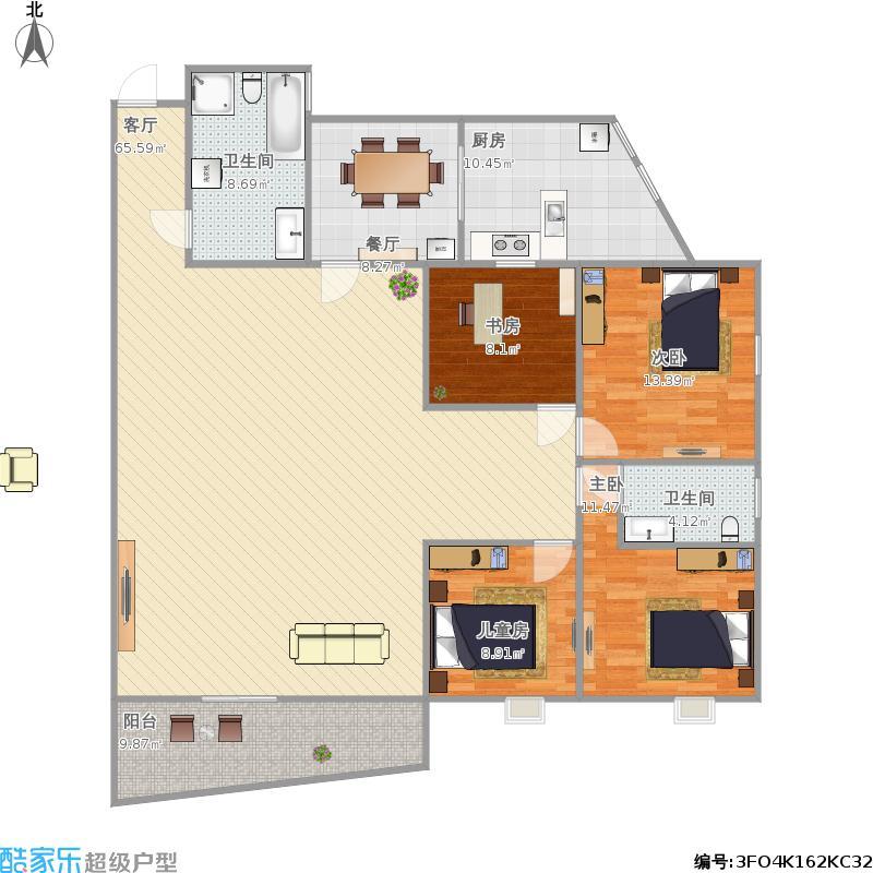 A2户型4室2厅