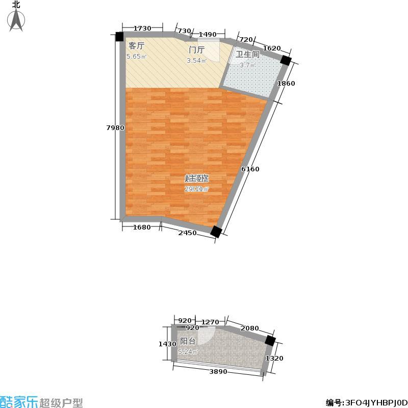 湘隆时代大公馆50.01㎡户面积5001m户型