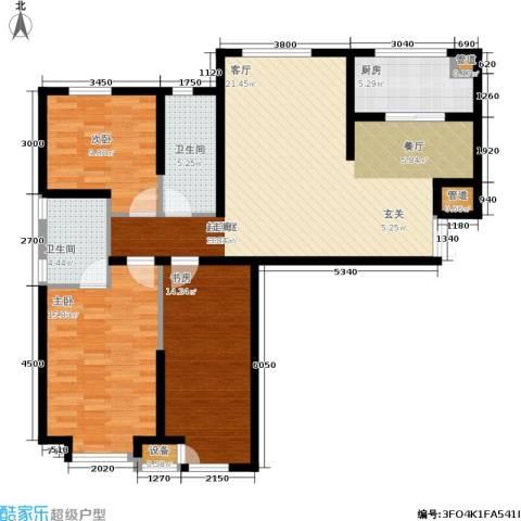 龙城帝景3室0厅2卫1厨127.00㎡户型图