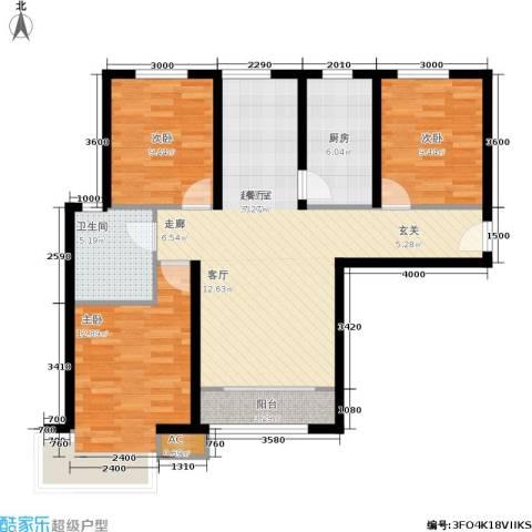 松石国际城3室0厅1卫1厨112.00㎡户型图