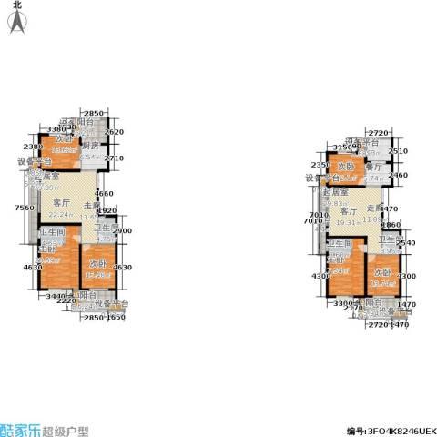 金邸山庄6室1厅4卫2厨326.00㎡户型图