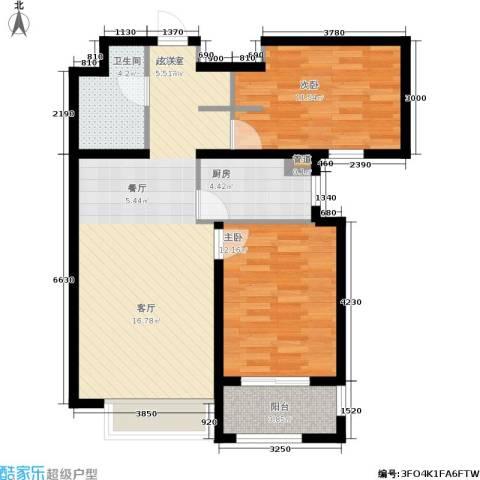 龙城帝景2室0厅1卫1厨95.00㎡户型图