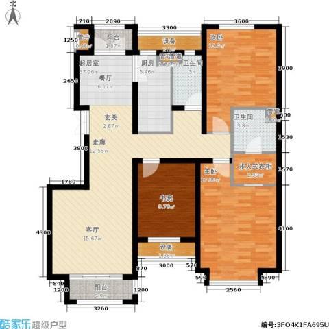 龙城帝景3室0厅2卫1厨133.00㎡户型图
