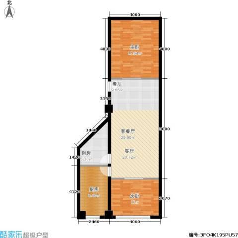 金帝世纪城2室1厅0卫2厨101.00㎡户型图