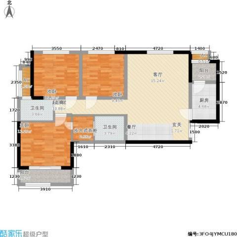 辰宇世纪城3室0厅2卫1厨103.00㎡户型图