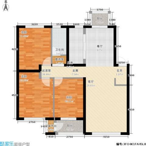 龙城帝景3室0厅1卫1厨113.00㎡户型图