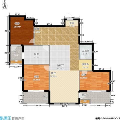 东方新天地花园3室1厅1卫1厨167.00㎡户型图