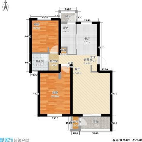 龙城帝景2室0厅1卫1厨89.00㎡户型图
