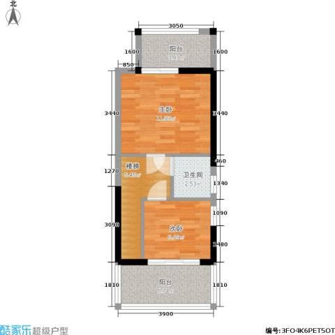金泰丝路花城(四期)2室0厅1卫0厨53.00㎡户型图
