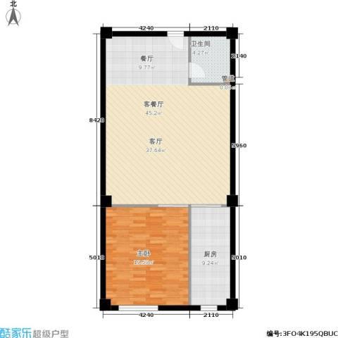 金帝世纪城1室1厅1卫1厨107.00㎡户型图