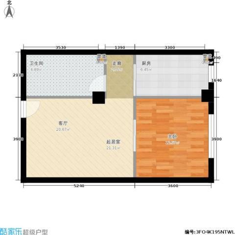 金帝世纪城1室0厅1卫1厨67.00㎡户型图