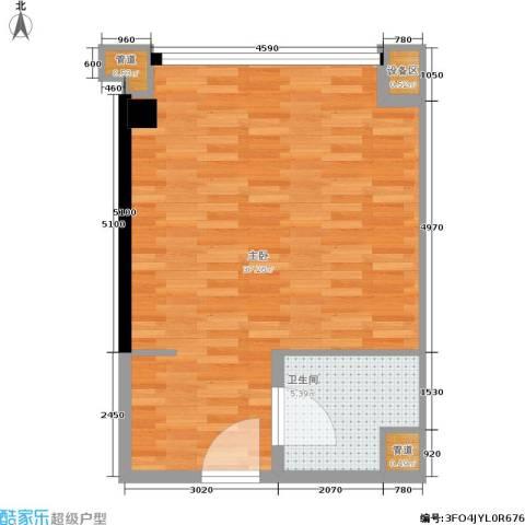 金地雄楚1号1室0厅1卫0厨44.19㎡户型图
