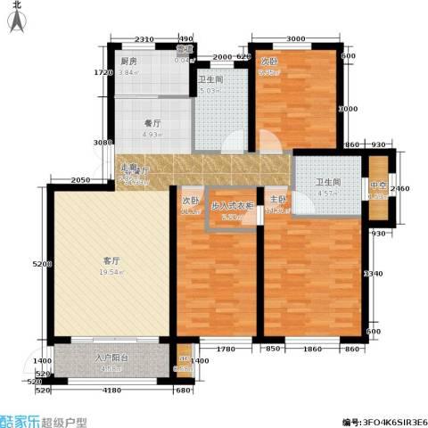 大连港天下粮仓3室1厅2卫1厨125.00㎡户型图