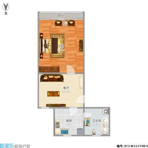 嘉秀坊1室1厅1卫1厨67.00㎡户型图