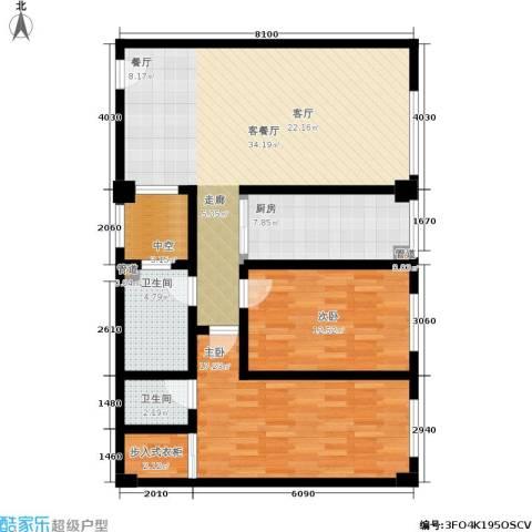 金帝世纪城2室1厅2卫1厨122.00㎡户型图