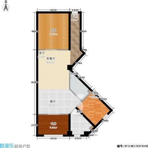 金帝世纪城3室1厅1卫1厨127.00㎡户型图