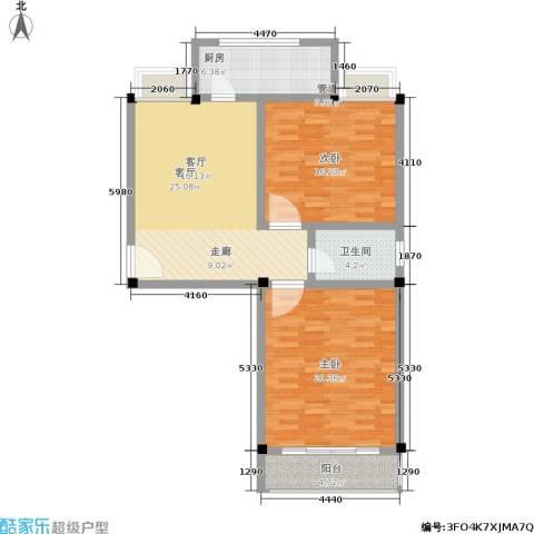 世佳欣居2室1厅1卫1厨80.00㎡户型图
