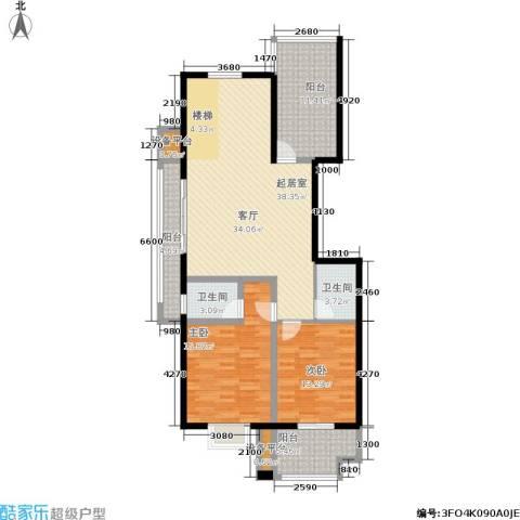 金邸山庄2室0厅2卫0厨140.00㎡户型图