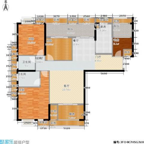 ECO城4室1厅2卫2厨184.01㎡户型图