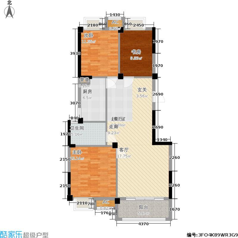 泰兴新能源水木清华105.00㎡新能源水木清华5#楼105-110平米 三房两厅一卫户型3室2厅1卫