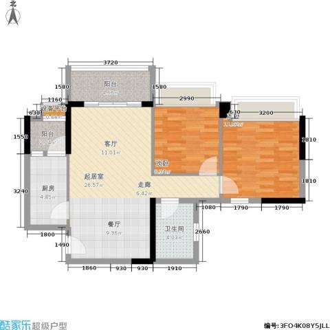 盈彩美居2室0厅1卫1厨75.00㎡户型图