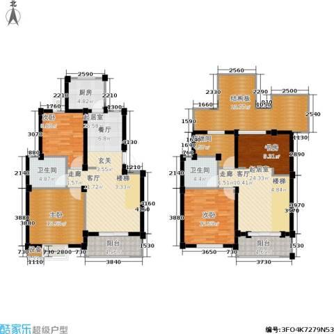 香槟湾-长江绿岛5期3室0厅2卫1厨150.81㎡户型图