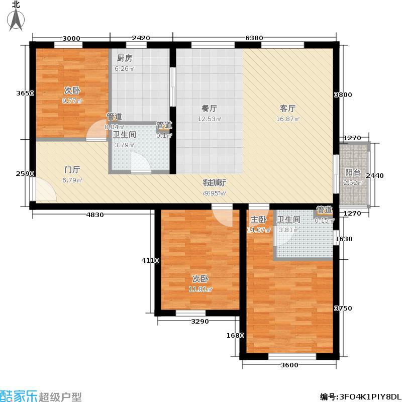 当代采育满庭春MOMA131.00㎡-D户型3室2厅