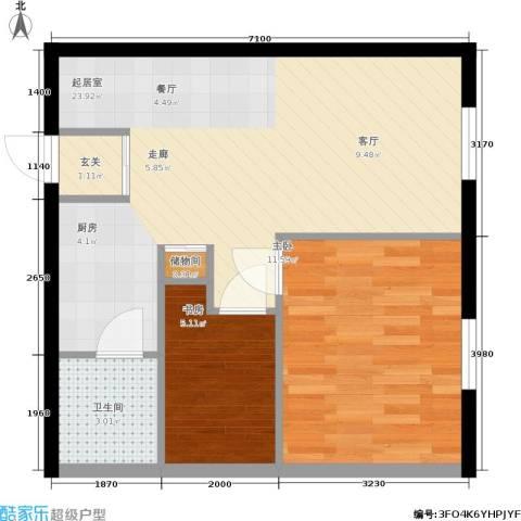 红利湾only12室0厅1卫0厨63.00㎡户型图