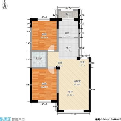 轩泽硅谷壹号2室0厅1卫1厨88.00㎡户型图