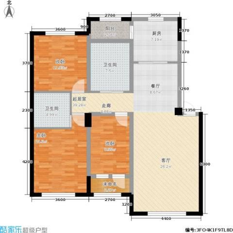 轩泽硅谷壹号3室0厅2卫1厨132.00㎡户型图