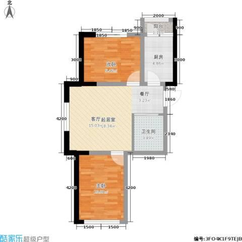 轩泽硅谷壹号2室0厅1卫1厨75.00㎡户型图
