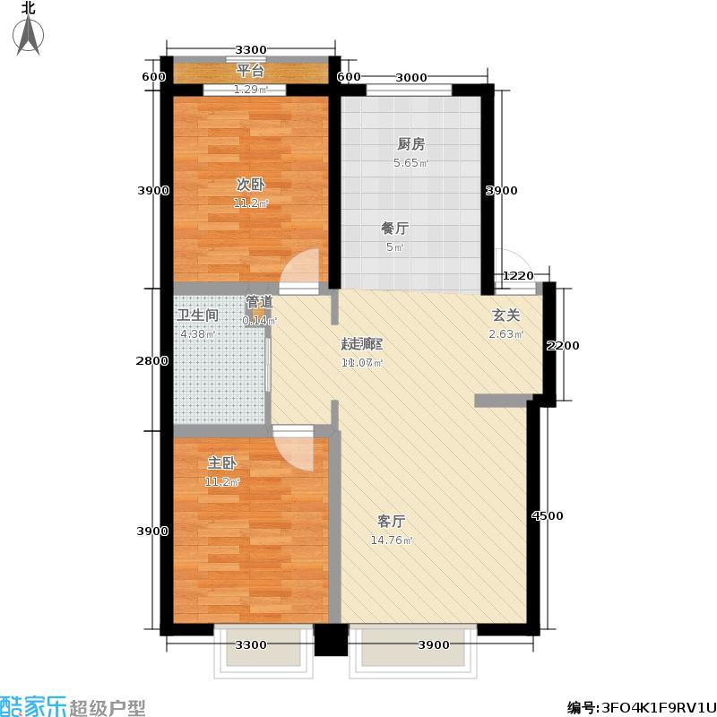 江山印象99.11㎡一期小高3号楼1-11层E户型