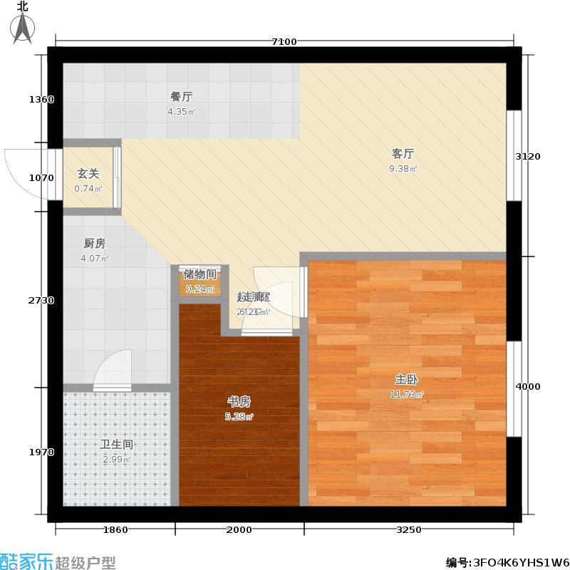 红利湾only1二室二厅一卫户型2室2厅1卫