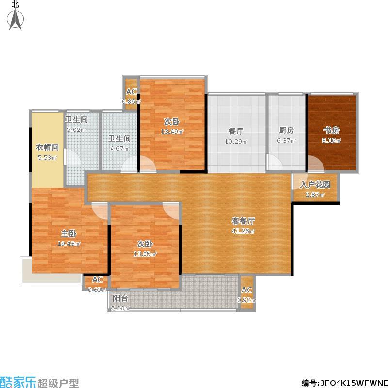 香逸中央二期三室两厅两卫